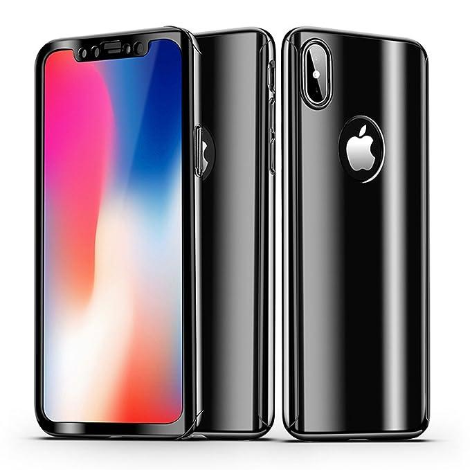 Amazon.com: iPhone X funda, leodea espejo de 360 grados de ...
