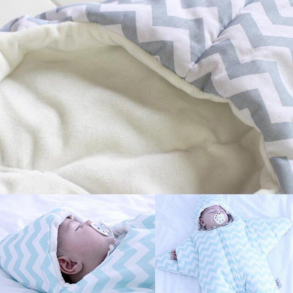 Saco de dormir para bebé invierno recién nacido de patas algodón manga larga - Garcon - niña pijama niños Confort combinación - de estrella de mar. azul ...
