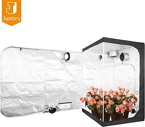 JT Jupetory 48 x48 x80 Mylar Hydroponic Grow Tent with Removable Floor Tray for Indoor Plant Growing Garden Growing Dark Room 4 x4 48 x48 x80