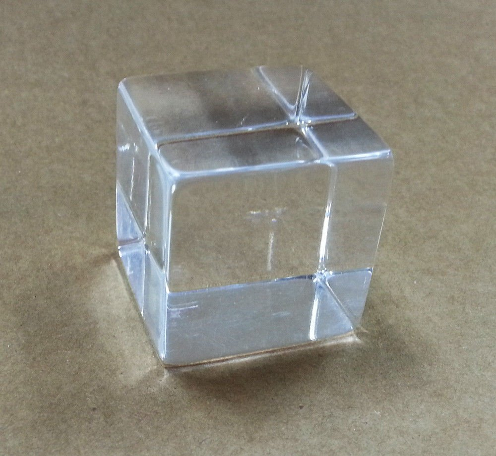 2 PACK Clear Acrylic Tumbled Cube 1-1//2/""
