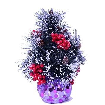 mini purple christmas tree