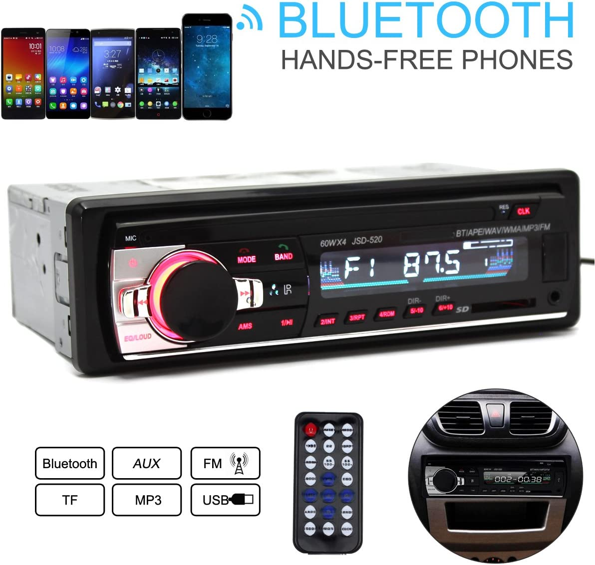 Epathchina Jsd 520 Auto Fm Radio Sd Usb Mp3 Audio Elektronik