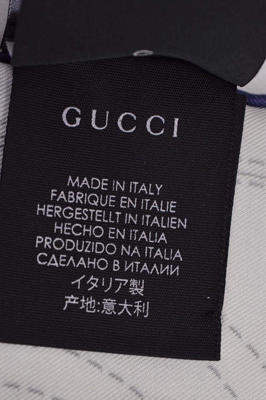 Gucci Women's 352213 Silk Cream Blue Interlocking GG Twill Neck Scarf by Gucci (Image #6)