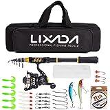 Lixada Fishing Rod Reel Telescopic Fishing Rod Fishing Line Lures Hooks Jigs Travel Fishing accessories Kit