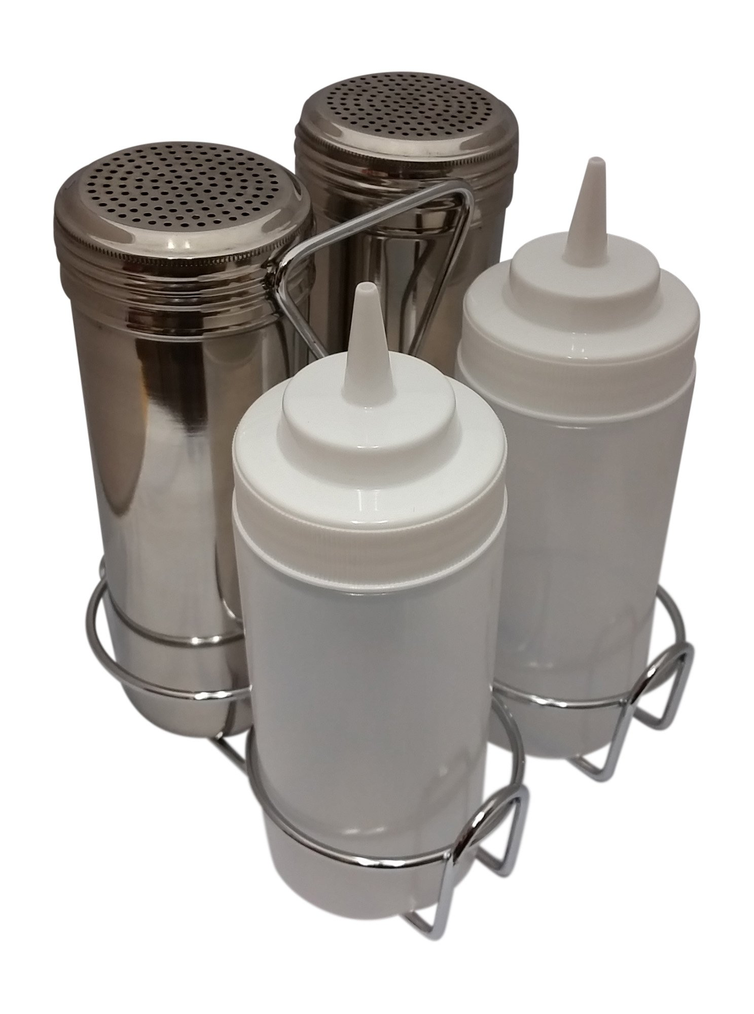 Griddle Sauce Bottle and Seasoning Shaker Set with Caddy