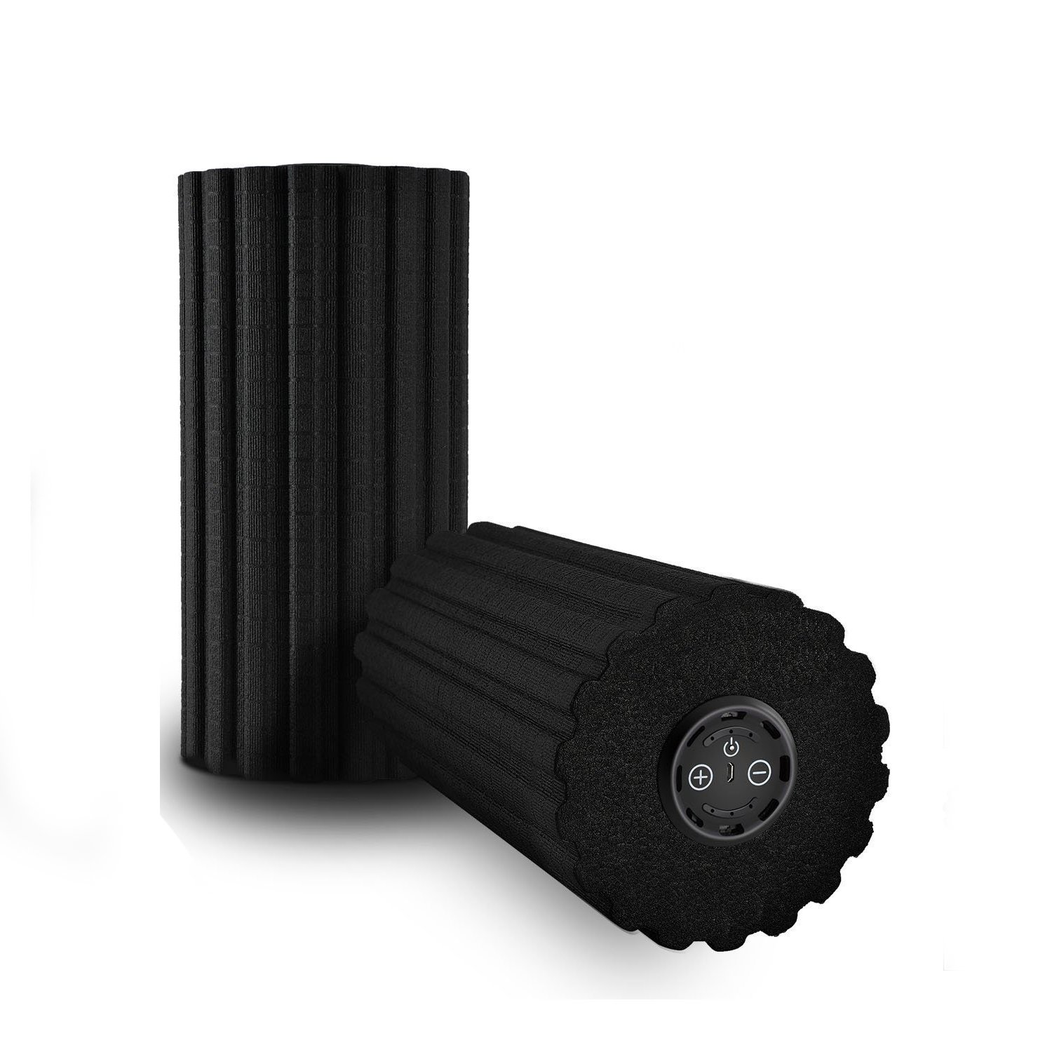 (6-Speed High Intensity, Black) - ULTRAPOWER SPORTS Vibrating Foam Roller 3/6 Speed High Intensity Exercise Muscle Roller with Remote Controller for Yoga,Gym,Deep Tissue Muscle Recovery,Stretching & Pain Release (Blue/Black)   B07BFNYQYL