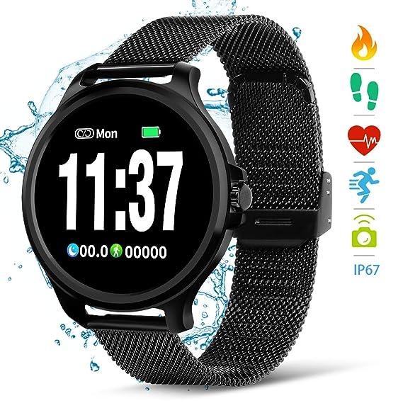 NASUM Fitness Watches, Reloj Inteligente, Frecuencia Cardíaca y Monitoreo del Sueño, Podómetro, Cálculo del Consumo de Calorías, Recepción de SMS, ...