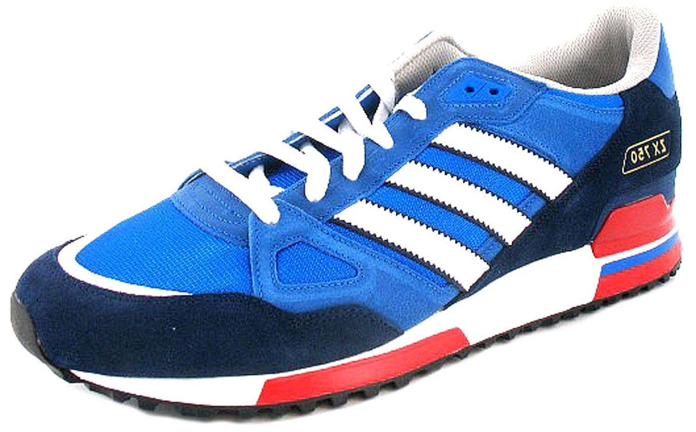 9bc66e9e72768 New Mens/Gents Blue/White Adidas Originals Zx 750 Retro Style Trainers -  Bluebird/White - UK SIZES 8-12