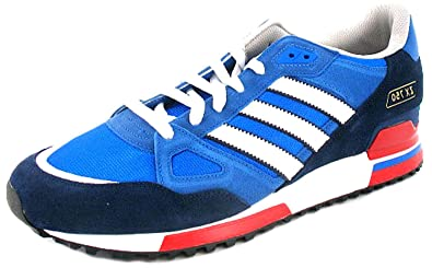 hot sale online 532a9 cdef3 New Mens Gents Blue White Adidas Originals Zx 750 Retro Style Trainers -  Bluebird