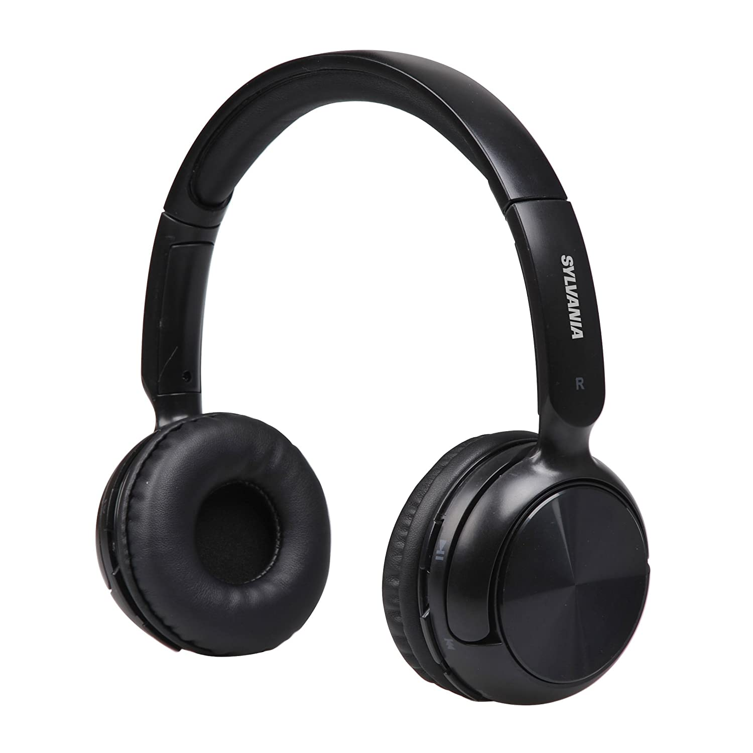 Sylvania SBT235-Black Bluetooth Wireless Headphones with Microphone, Black (Renewed)