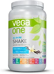 Vega One All-in-One Plant Based Protein Powder French Vanilla (20 Servings, 1.83lbs) - Plant Based Vegan protein,French Vanil