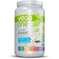 Vega One All-in-One Plant Based Protein Powder French Vanilla (20 Servings, 1.83lbs) - Plant Based Vegan protein, Non Dairy, Gluten Free, Non GMO