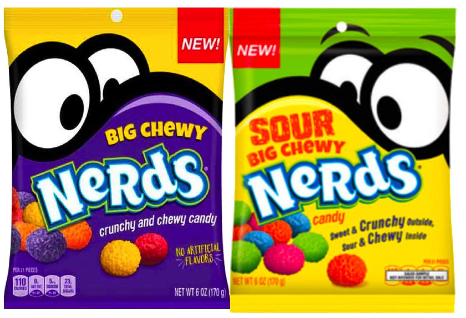 NEW Nerds Big Chewy Nerds Sour & Crunchy No Artificial Flavors Net WT 6oz (2)