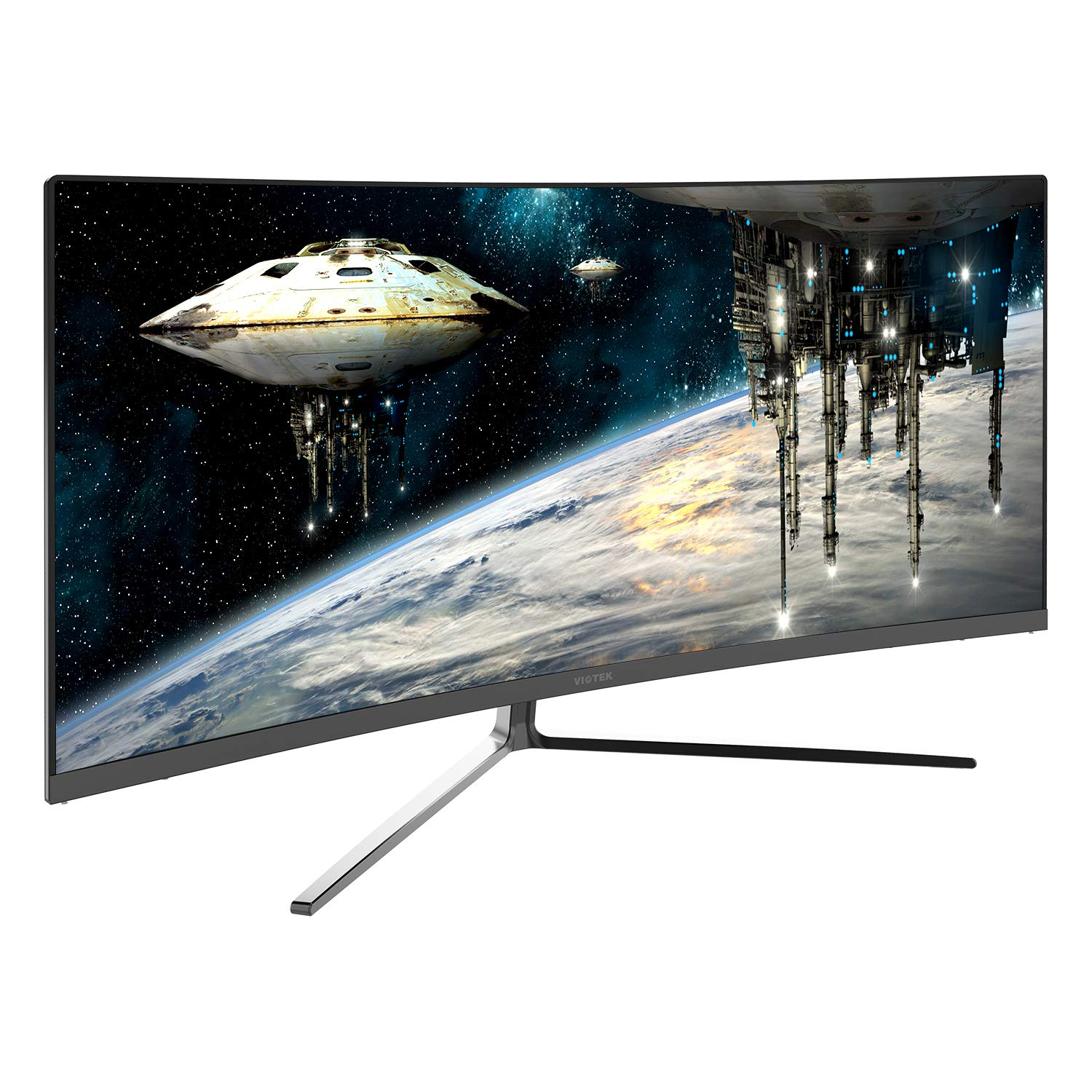 Viotek GN34CB 34-Inch 21 9 Ultrawide Curved QHD Gaming and Professional Computer Monitor, 100Hz 1440p, FreeSync FTS RTS VESA Black
