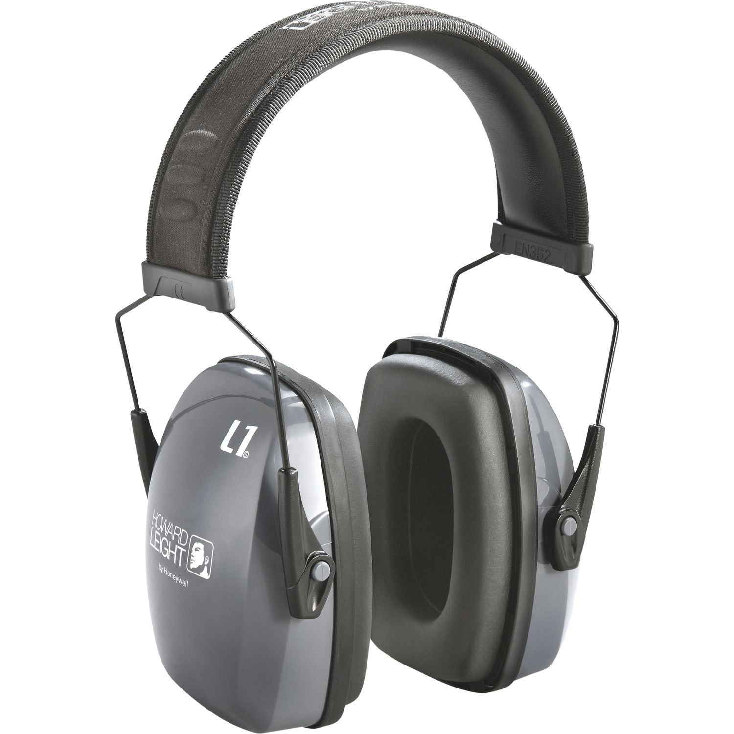 Howard Leight by Honeywell 1010922 Lightning Earmuffs, 25 DB NRR, Gray, Over The Head, Case of 10
