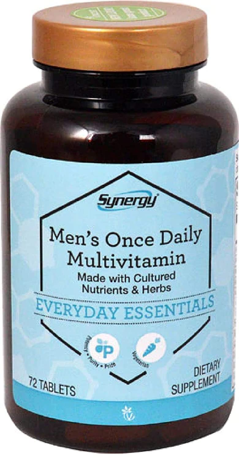 Men s Complete Once Daily Multi-Vitamin with Organic Non-GMO Ingredients and Cultured and Organic Herbs – 72 Vegetarian Tablets