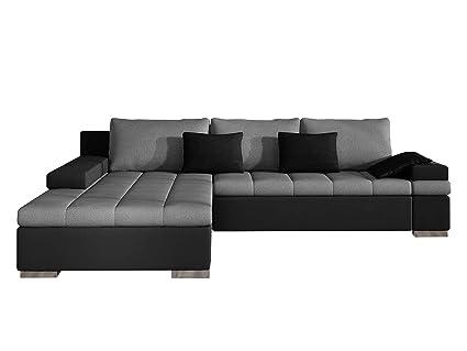 Design Ecksofa Bangkok, Moderne Eckcouch mit Schlaffunktion Bettkasten  Ecksofa für Wohnzimmer Gästezimmer Couch L-Form Wohnlandschaft (Ecksofa  Links, ...