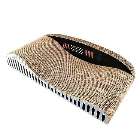Corrugado Piano En Forma De Back-Back Sofá Gato Arañazo Bordo Gato Garras Juguete Cama