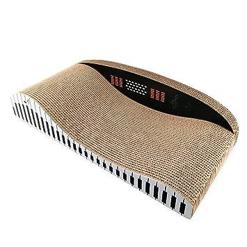 Corrugado Piano En Forma De Back-Back Sofá Gato Arañazo Bordo Gato Garras Juguete Cama De Gato Grande: Amazon.es: Productos para mascotas
