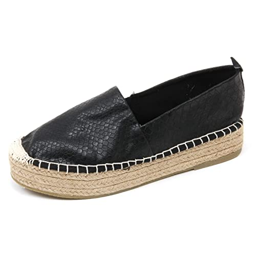 Amazon Black Black Size Black Espadrilles IMPERFECT 5 Women's co 6 TqOS4wPx