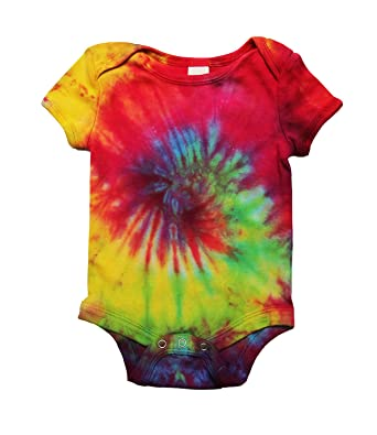 9d5de20fb The Hippy Clothing Co. Tie Dye Baby Grow, 100% Cotton: Amazon.co.uk:  Clothing