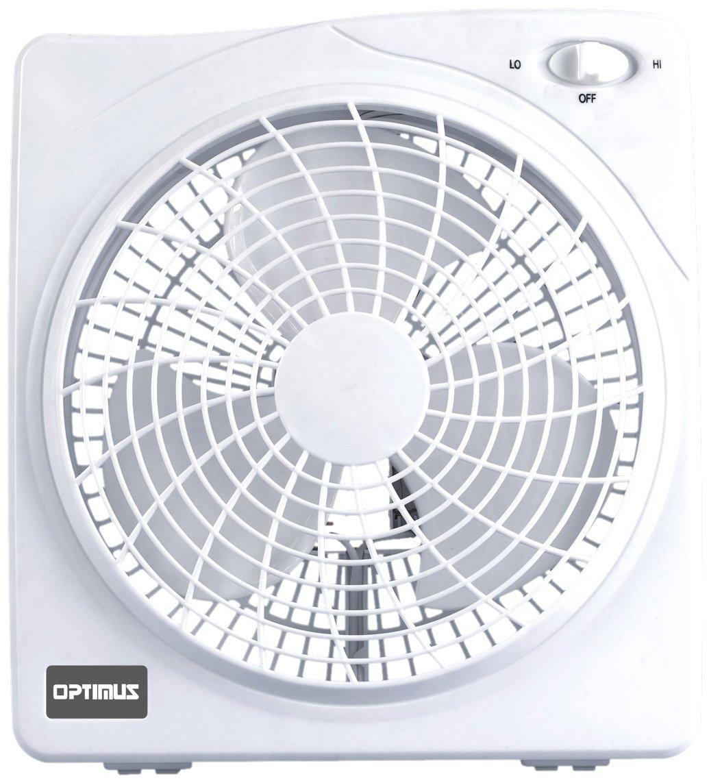 amazon com optimus f 1022 10 inch 2 speed box fan white home rh amazon com