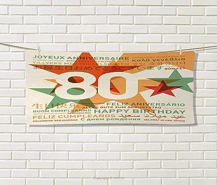 Amazon.com: Anniutwo 80th Birthday,Hair Towel,80 Years Old ...