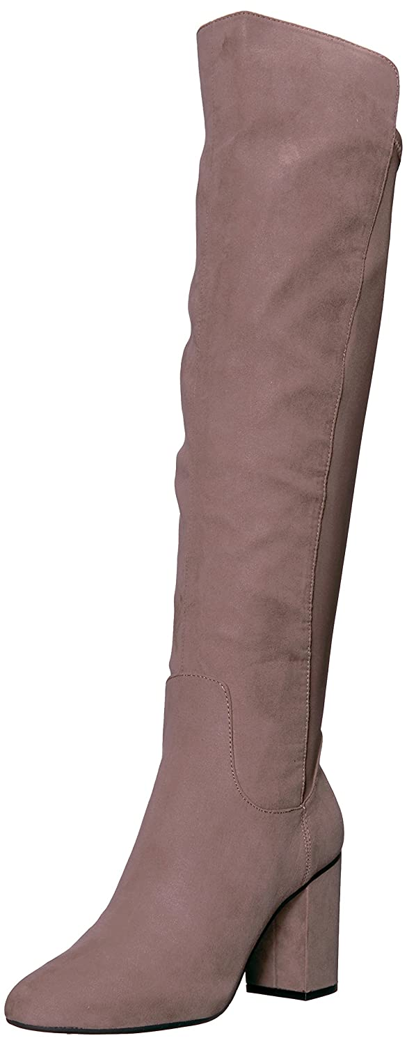 Kenneth Cole REACTION Women's Time Ahead Over The Knee Stretch High Heel Riding Boot B06ZY25B37 7 B(M) US|Putty