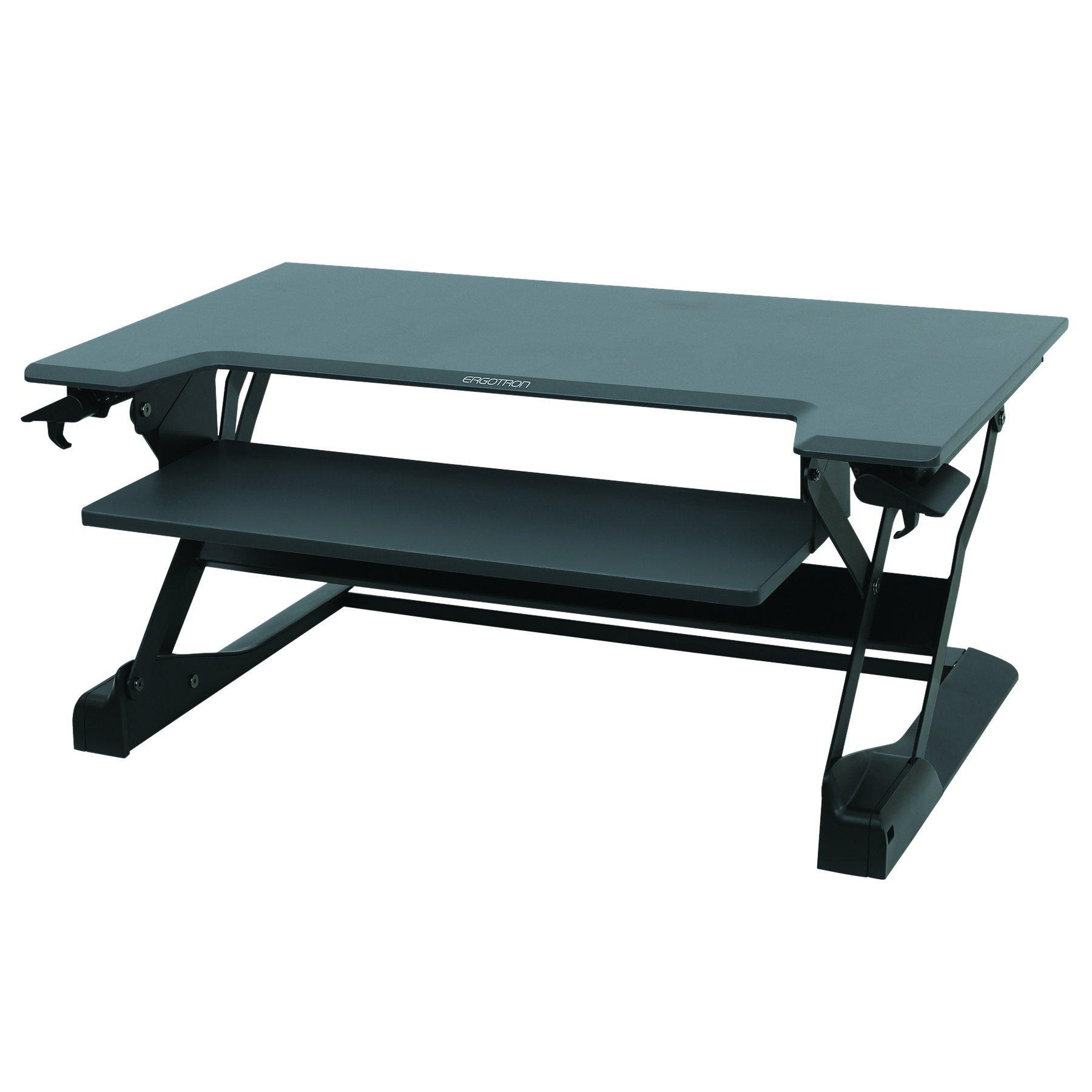 Ergotron WorkFit-TL, Sit-Stand Desk Converter | Black, 37.5'' wide | For Tabletops