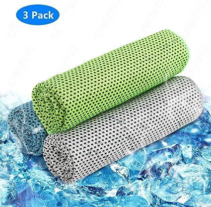 Amazon.com: 3 toallas de refrigeración para deportes ...