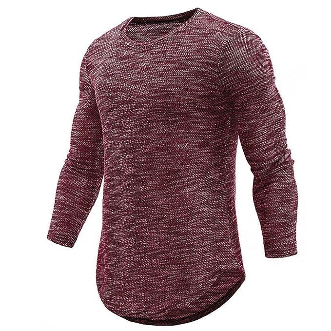 Camisa de Manga Larga Delgada Casual con Cuello en V de otoño e Invierno para Hombres Camisas de Cuadros Hombre: Amazon.es: Deportes y aire libre