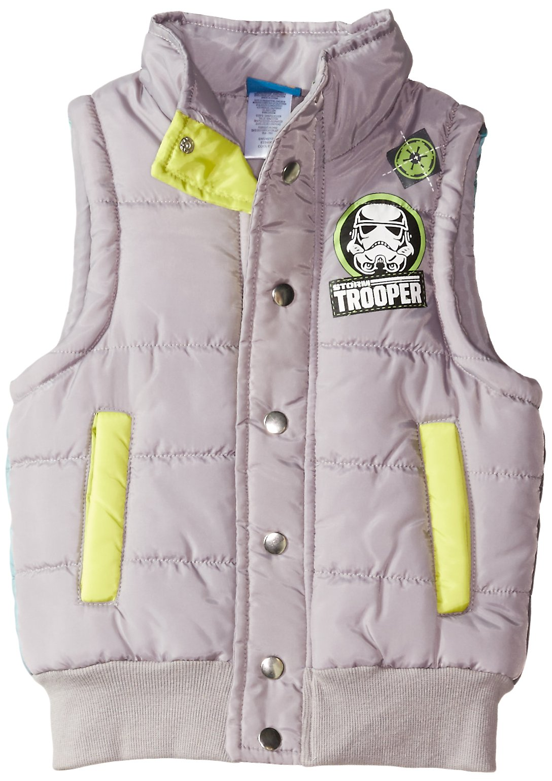 Star Wars Boys' Trooper Sublimated Vest, Cool Grey, Small