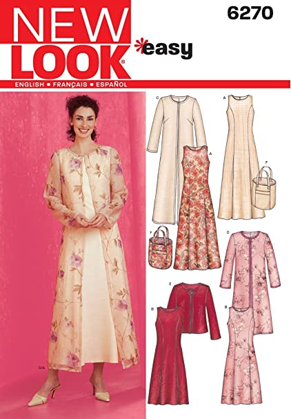 8fd05934fc5 Image Unavailable. Image not available for. Color  New Look Sewing Pattern  6270 Misses Dresses ...