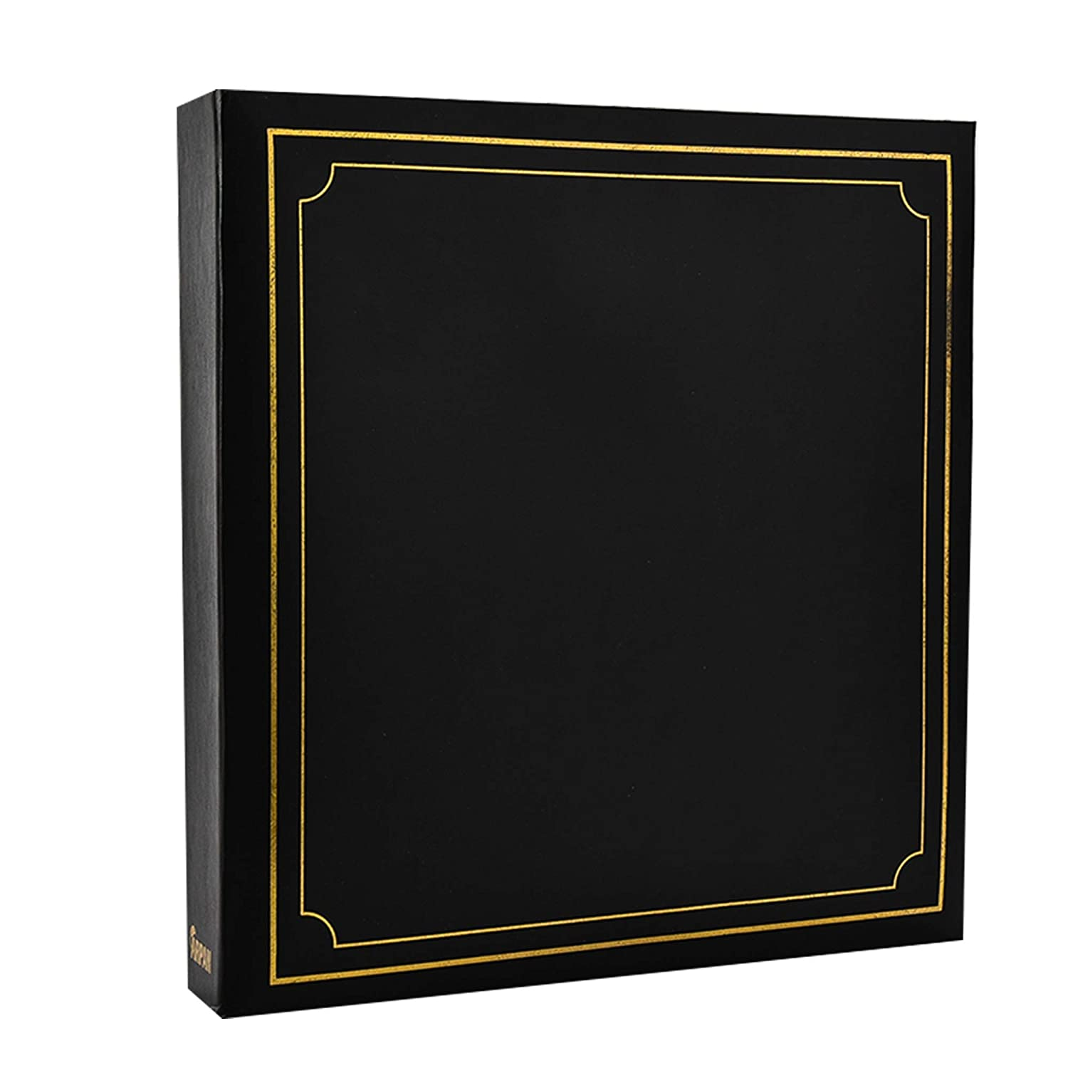 ARPAN Large Slip In Photo Album Holds 500 Photos 6'' x 4'' Gold Stamp Padded Cover Black AL-9174