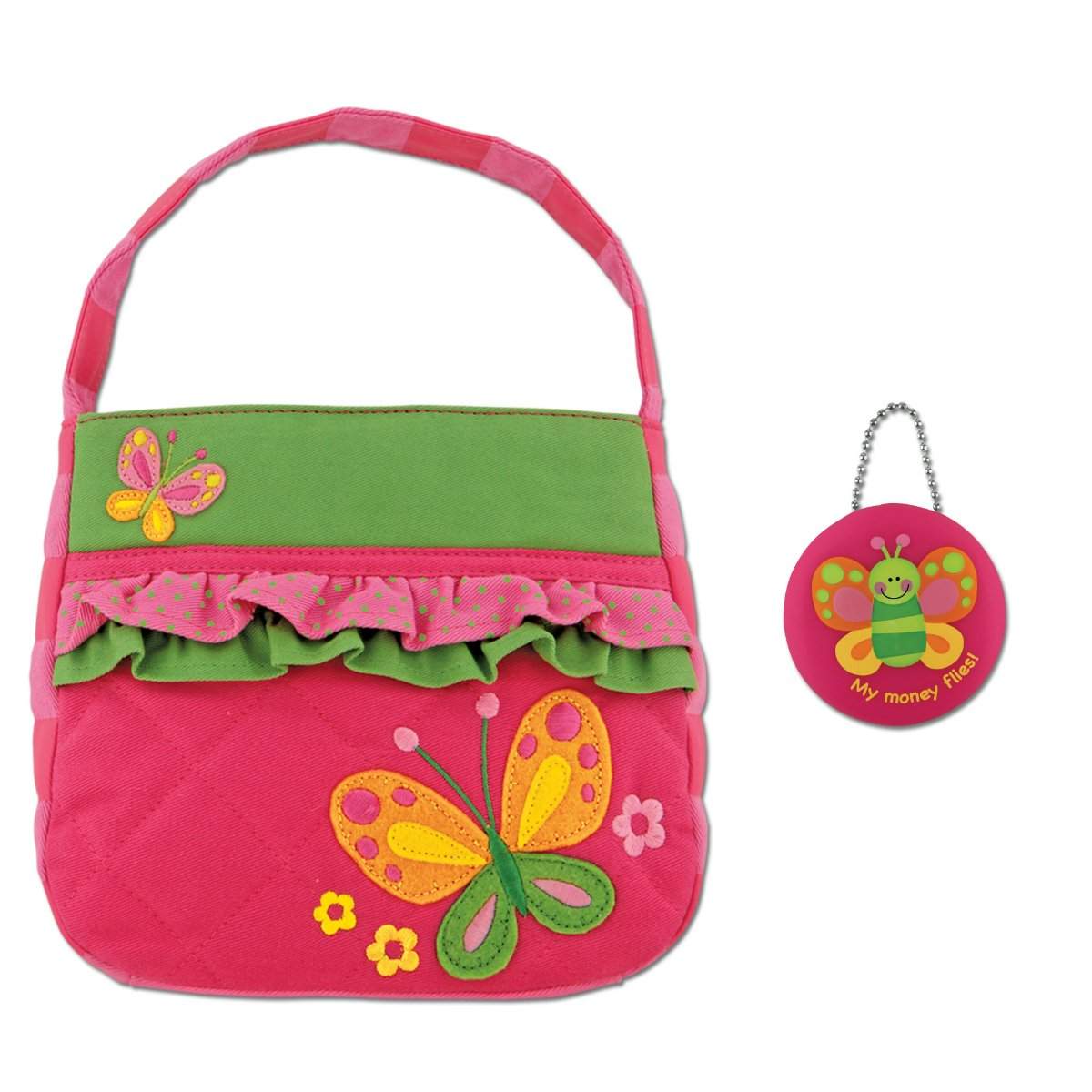 Stephen Joseph Girls Quilted Butterfly Purse and Coin Holder - Gifts for Kids