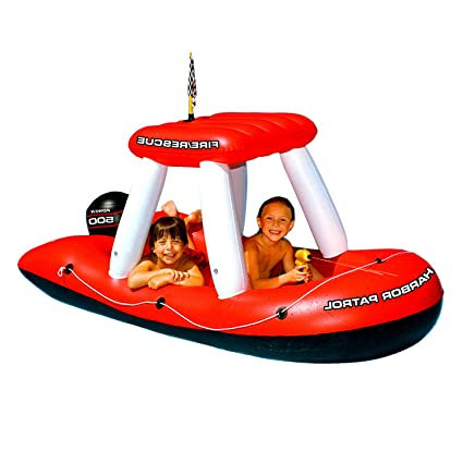 amazon com fireboat inflatable squirter for pool use kids big red