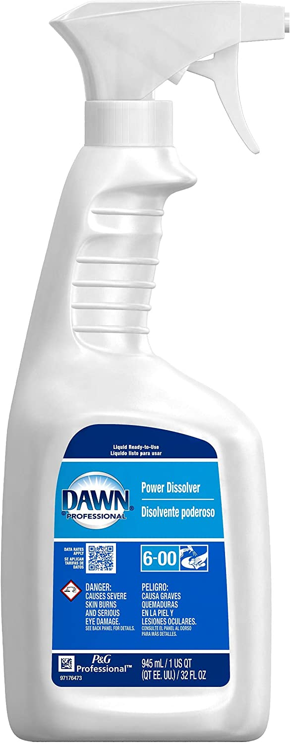 Dawn Professional 56037 Dish Power Dissolver 32oz Spray Bottle (Pack of 6)