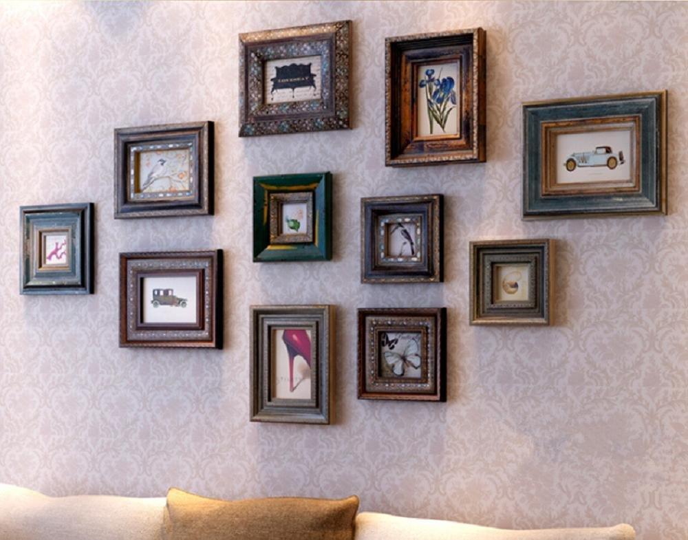 Xiuxiandianju 11 Stück Holz Wandbehang Collage Foto Bilderrahmen