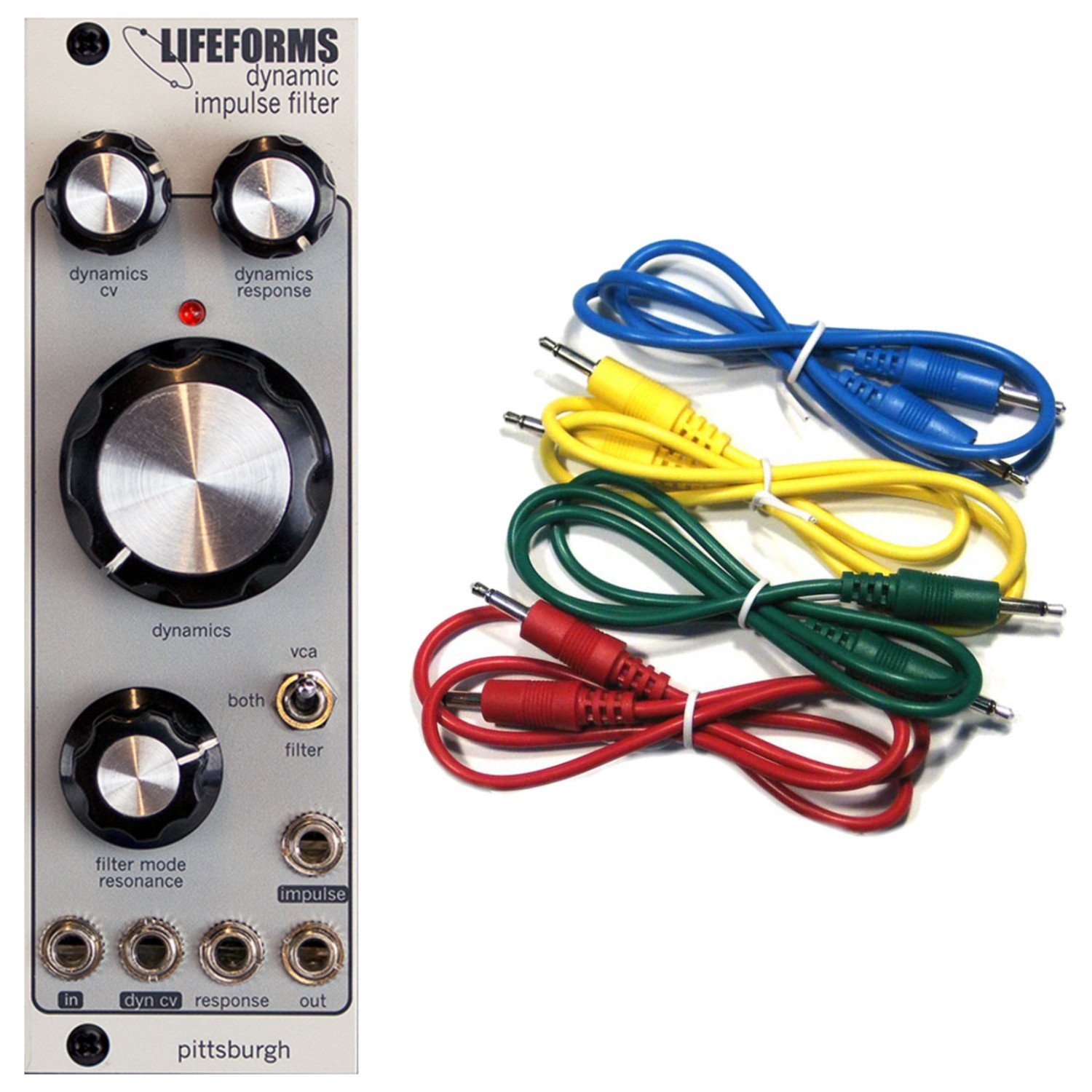 Pittsburgh Modular Lifeforms Dynamic Impulse Filter Synth Module w/ 4 Cables