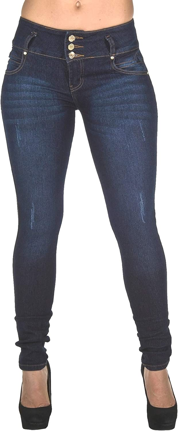 Plus//Junior Size Colombian Design Butt Lift Levanta Cola Stretch Skinny Jeans