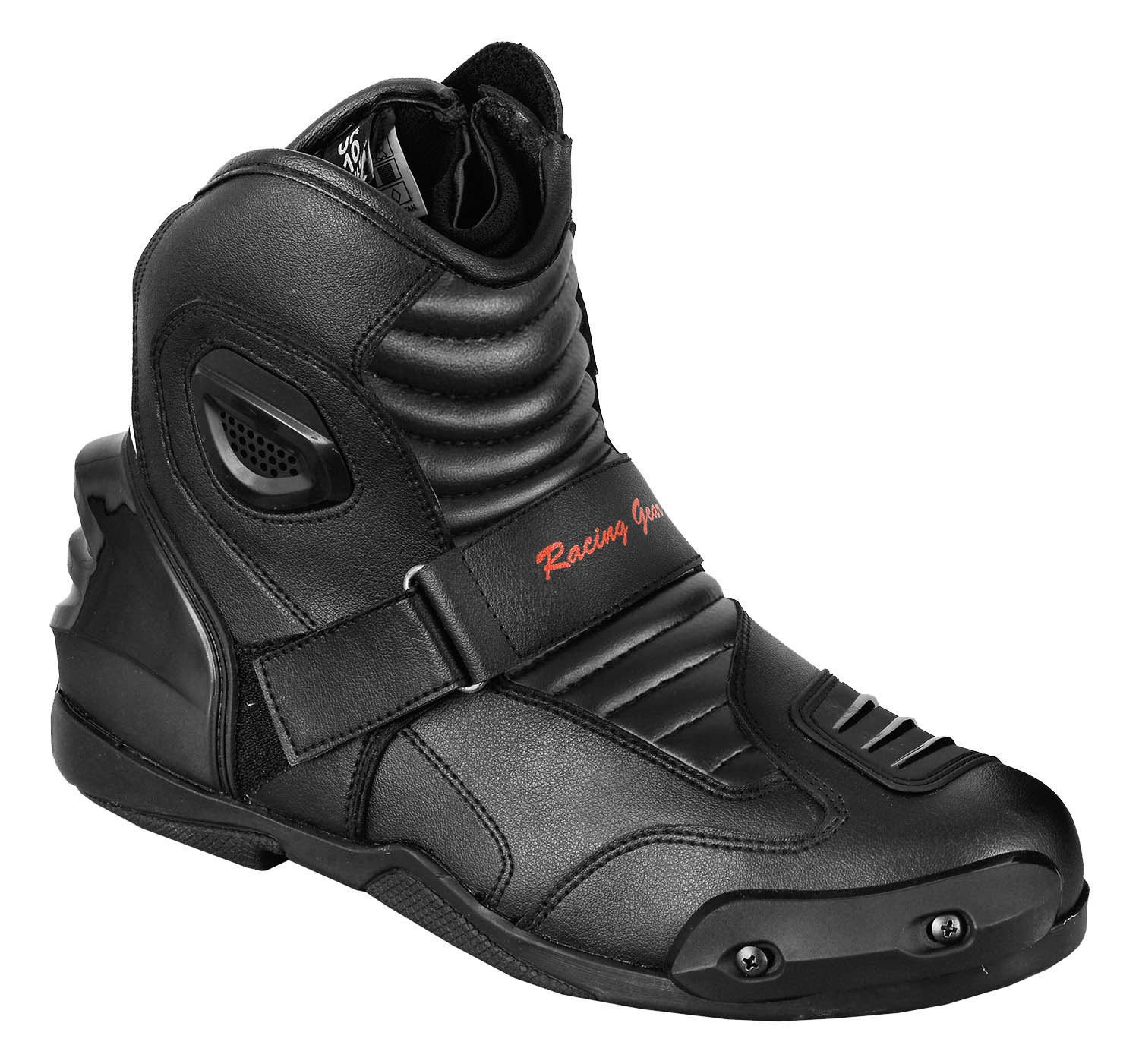 UK 7 EU 41 Black /& White PROFIRST Genuine Nextek Motorbike Leather Boots Motorcycle Shoes Short Ankle Protection Armoured Boot Anti Slip Racing Sports Reflector