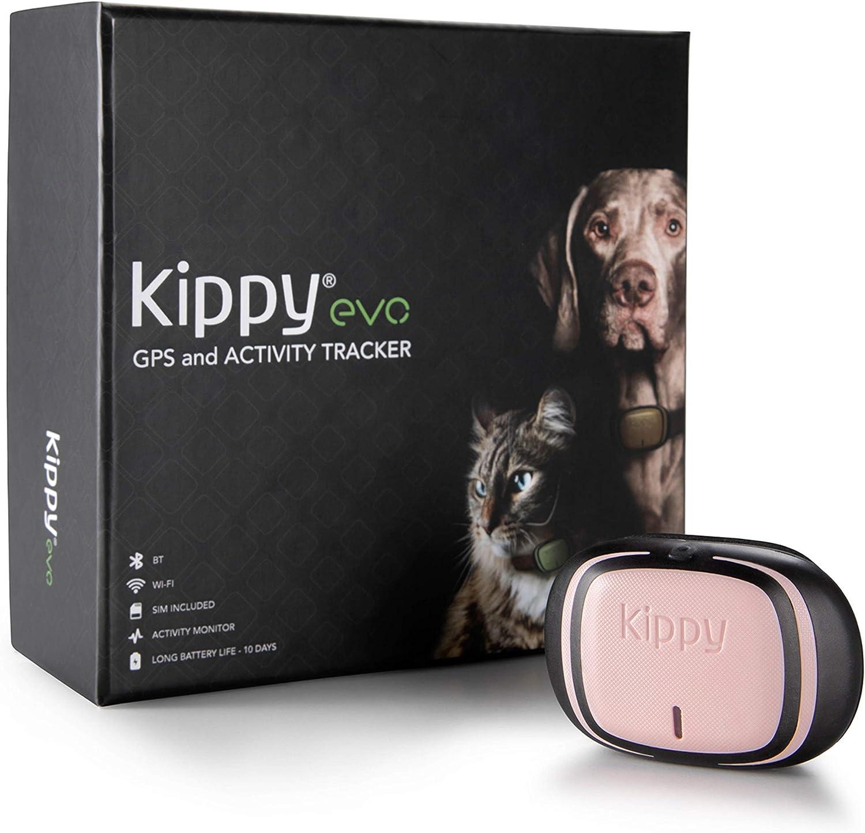 Kippy EVO, El Nuevo GPS and Actividad para Perros y Gatos, 38 gr, Waterproof, Bateria 10 dias, Pink Petal
