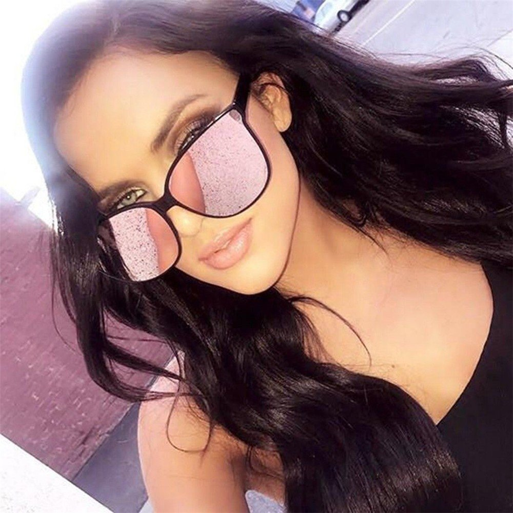 Start Unisex Men Women Square Mirrored Sunglasses Eyewear Outdoor Sports Glasses 2019 Champagne Brown, 53