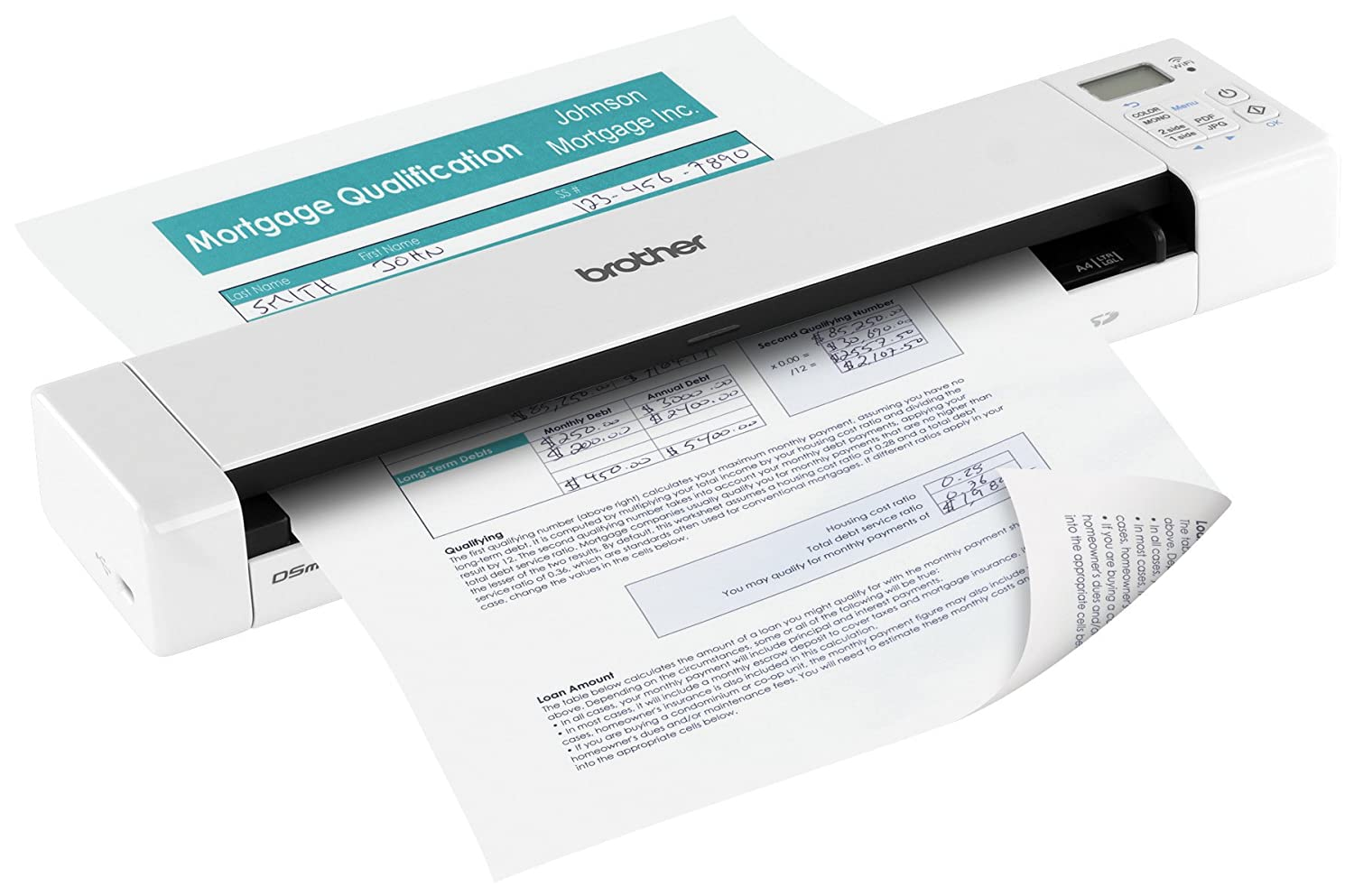 Invoice Print Out Word Amazoncom Brother Dsdw Wireless Duplex Mobile Color Page  Jetblue Receipt with Free Microsoft Invoice Template Word Amazoncom Brother Dsdw Wireless Duplex Mobile Color Page Scanner  Electronics Home Depot Duplicate Receipt Excel