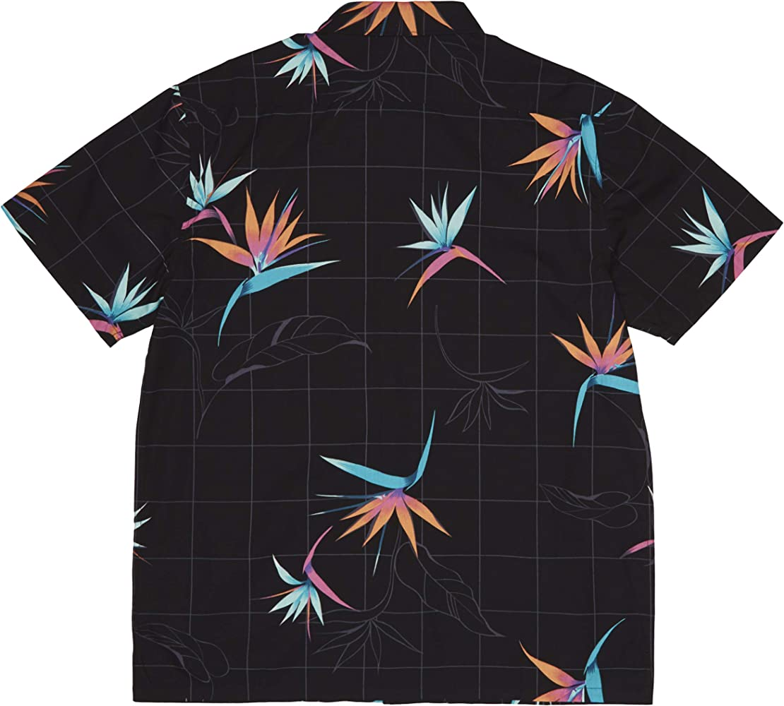 BILLABONG Sundays - Camisa para Hombre, diseño Floral, Color Negro ...