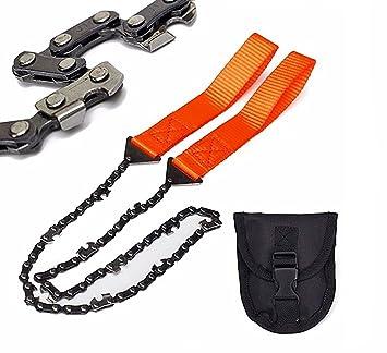 YunNasi Handkettens/äge mit 33 Z/ähnen aus Carbonstahl f/ür Garten Survival Camping und Outdoor Aktivit/äten