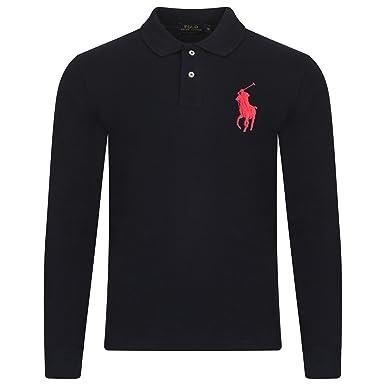 ... cheap ralph lauren mens polo shirt. long sleeve. big pony. custom fit l c3e187fa5d3