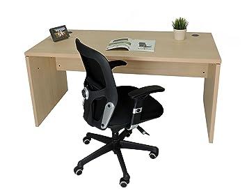 Mesa de Oficina. Euro 2000. Color Haya. 140x80 cm: Amazon.es: Hogar