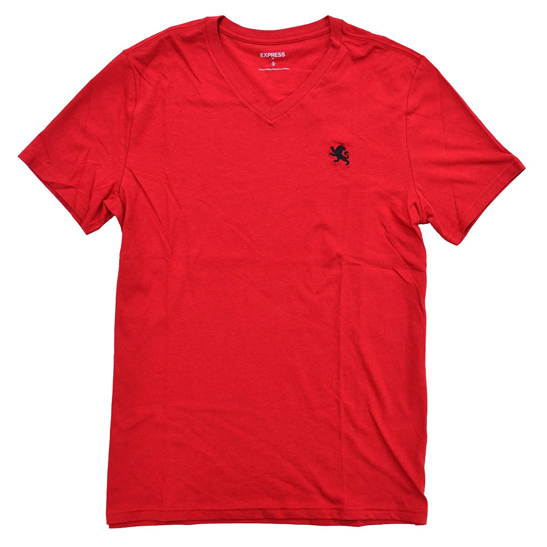 White t shirt express - Amazon Com Express Men S Classic Fit V Neck Small Lion T Shirt Clothing