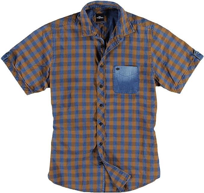 engbers Hombre Camisa Cuadros, 21563, color marrón marrón oxidado Small: Amazon.es: Ropa y accesorios